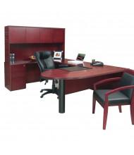 Mayline Luminary EUB2 U-Shaped Executive Office Desk Set (Shown in Cherry)