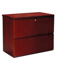 Mayline Luminary LF23620 2-Drawer Finished Top Lateral File - Shown in Cherry