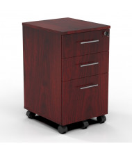 Mayline Medina MNRBBF 3-Drawer Box/Box/File Pedestal Cabinet (Shown in Mahogany)