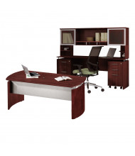 Mayline Medina MNT38 Executive Office Desk Set (Shown in Mahogany)