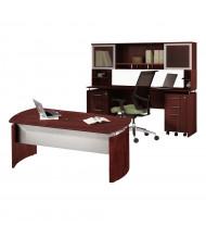 Mayline Medina MNT38 Executive Office Desk Set (Shown in Mahogany)