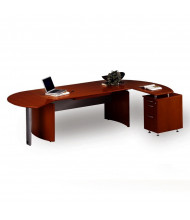 Mayline Napoli NT1 Executive Desk with Pedestal (Shown in Sierra Cherry)