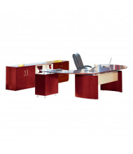 Mayline Napoli NT15 Executive Office Desk Set (Shown in Sierra Cherry)