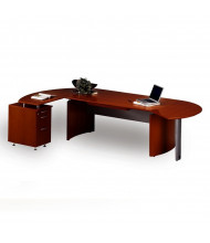 Mayline Napoli NT5 Executive Desk with Pedestal (Shown in Sierra Cherry)