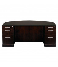 "Mayline SDBBB72 Sorrento 72"" Bow Front Double Pedestal Desk (Shown in Espresso)"