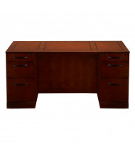 "Mayline SDSBB72 Sorrento 72"" Straight Front Double Pedestal Desk (Shown in Bourbon Cherry)"