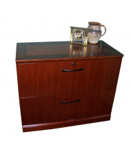 "Mayline Sorrento SLF2 36"" W 2-Drawer Lateral File (Shown in Bourbon Cherry)"