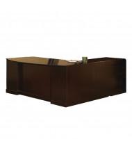"Mayline SLLBBF72 Sorrento 72"" Executive L-Shaped Bow Front Desk (Shown in Espresso)"