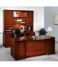 Mayline Sorrento ST13 Office Desk Set (Shown in Bourbon Cherry)