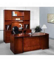 Mayline Sorrento ST14 Office Desk Set (Shown in Bourbon Cherry)