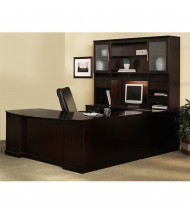 Mayline Sorrento ST2 U-Shaped Executive Office Desk Set (Shown in Espresso)