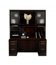 Mayline Sorrento ST21 Office Desk Set (Shown in Espresso)
