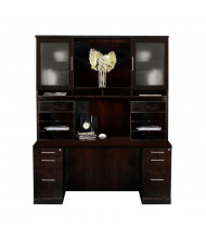 Mayline Sorrento ST22 Office Desk Set (Shown in Espresso)