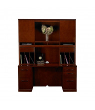 Mayline Sorrento ST24 Office Desk Set (Shown in Bourbon Cherry)