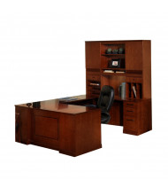 Mayline Sorrento ST3 U-Shaped Executive Office Desk Set (Shown in Bourbon Cherry)