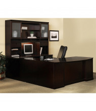 Mayline Sorrento ST5 U-Shaped Executive Office Desk Set (Shown in Espresso)