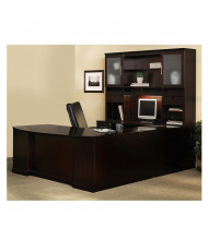 Mayline Sorrento ST6 U-Shaped Executive Office Desk Set (Shown in Espresso)