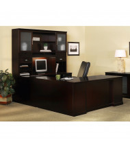 Mayline Sorrento ST7 U-Shaped Executive Office Desk Set (Shown in Espresso)