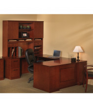 Mayline Sorrento ST8 U-Shaped Executive Office Desk Set (Shown in Bourbon Cherry)