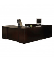 "Mayline SULBBB72 Sorrento 72"" Executive U-Shaped Bow Front Desk (Shown in Espresso)"