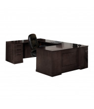 "Mayline SULSBB72 Sorrento 72"" Executive U-Shaped Straight Front Desk (Shown in Espresso)"