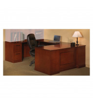 """Mayline SULSBF72 Sorrento 72"""" Executive U-Shaped Straight Front Desk (Shown in Bourbon Cherry)"""
