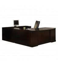 "Mayline SURBBB72 Sorrento 72"" Executive U-Shaped Bow Front Desk (Shown in Espresso)"