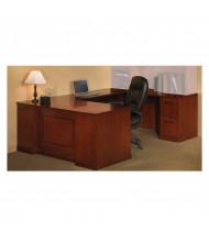 "Mayline SURSBF72 Sorrento 72"" Executive U-Shaped Straight Front Desk (Shown in Bourbon Cherry)"
