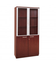 "Mayline VHC 80"" H 3-Shelf High Wall Cabinet (Shown in Sierra Cherry)"