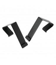 Quartet Cubicle Partition Hangers, Black, 2/Set