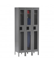 Tennsco C-Thru Assembled Single Tier Metal Lockers with Legs (Shown in Medium Grey)