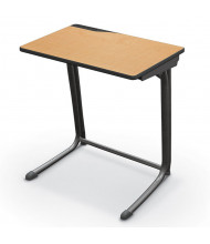 "Mooreco Essentials Edge 25.5"" W x 18"" D Black Frame Student Desk (Shown in Maplewood)"