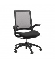 Eurotech Hawk MF22 Mesh-Back Fabric Mid-Back Task Chair (Shown in Black)