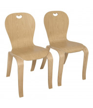 Wood Designs Maple Heritage's Bentwood Classroom Chairs, 2-Pack