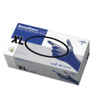Medline Sensicare Ice Nitrile Exam Gloves, Powder-Free, X-Large, Blue, 230/Pack