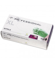 Medline Professional Nitrile Exam Gloves with Aloe, X-Large, Green, 100/Pack