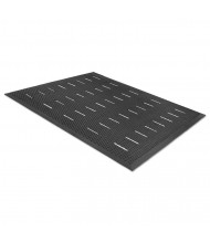 "Guardian Free Flow Comfort Utility Floor Mat, 36"" x 48"", Black"