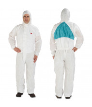 3M Disposable Protective Coveralls, White, Medium, 6/Pack