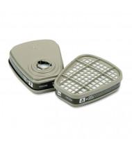 3M 6001 Respirator Cartridge for Certain Organic Vapors, 2/Pack