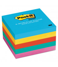 "Post-It 3"" X 3"", 5 100-Sheet Pads, Jaipur Color Notes"