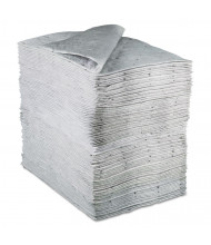 "3M 0.37 Gal. Sorbent Pads High-Capacity, 15-1/2"" W x 20-1/2"" L, Grey, 100/Pack"