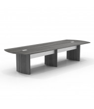 Mayline Medina 12 ft Boat-Shaped Conference Table (Shown in Grey)