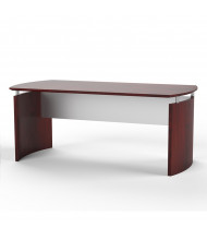 "Mayline Medina MND72 72"" W Floating Straight Front Office Desk (Shown in Mahogany)"