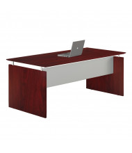 "Mayline Medina MNDS72 72"" W Floating Straight Front Office Desk (Mahogany)"