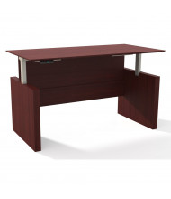 "Mayline Medina 72"" W Electric Straight Front Height Adjustable Desk (Shown in Mahogany)"