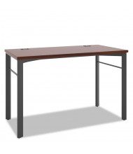 "Basyx Manage 48"" W Computer Table Desk, Chestnut"