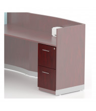 Mayline Medina MNRFF 2-Drawer File/File Pedestal Cabinet (Shown in Mahogany)