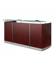 """Mayline Medina MNRS 87"""" W Reception Desk (Mahogany)"""