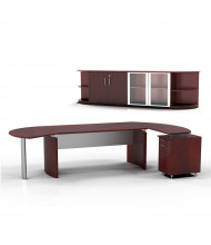 Mayline Medina MNT10 Executive Office Desk Set (mahogany)