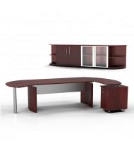 Mayline Medina MNT10 Executive Office Desk Set (Shown in Mahogany)